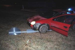 Occupants of 2005 Dodge Neon flee after the car runs over stop sign at South Mountain and Hayes Street