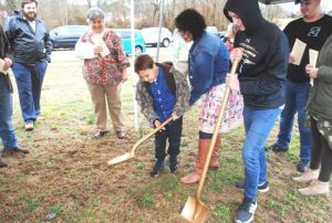 Jamie Nokes and Family Break Ground for Construction of their New Home on Hayes Street