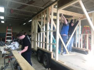 DCHS Construction Technology Students To Complete First Tiny House by Spring
