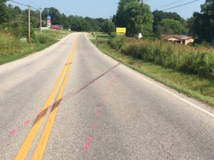 Portion of Highway 56 South where pedestrian was struck and later died in July 2017