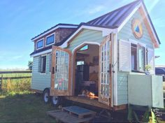 Except for a few changes, the new Tiny House under construction to have similar look to the one shown here