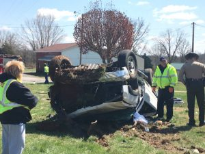 Two Hurt in Rollover Wreck on Highway 70 East