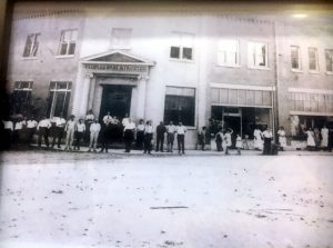 The building was home to People's Bank & Trust of DeKalb County 100 years ago