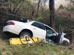 46 year old Lebanon man was injured in a one car crash Monday on Antioch Road