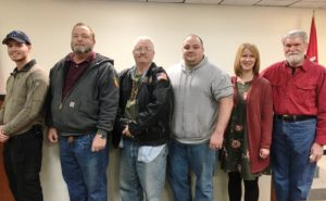 PHOTO FROM JANUARY PARTY MEET AND GREET: GOP candidates for County Commission: Matt Adcock (6th),Bruce Malone (7th),Incumbent Jerry Adcock (5th), Greg Matthews(4th) Sabrina Farler (2nd) Tom Chandler (1st)
