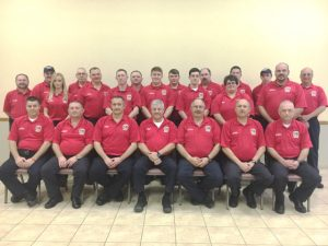 Members of the Smithville Volunteer Fire Department