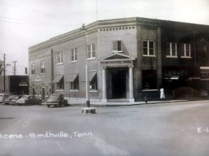 The building during the years it was home to First National Bank