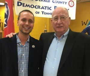 DeKalb Democratic Party Chairman Jordan Wilkins with Smithville Mayor Jimmy Poss