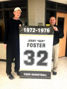 "Jerry ""Red"" Foster (left) with DCHS Principal Randy Jennings"