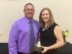 DCHS Teacher of the Year Sara Halliburton with her Principal Randy Jennings