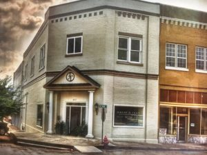 Law office building of Attorney Jeremy Trapp as it looks today