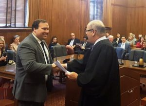 Luke Willoughby of Alexandria took the oath Thursday, April 19 administered by Circuit Court Judge Randy Kennedy of the 20th Judicial District.