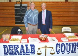 General Sessions and Juvenile Court Judge Bratten Cook, II and Attorney Hilton Conger participated in DMS Career Day