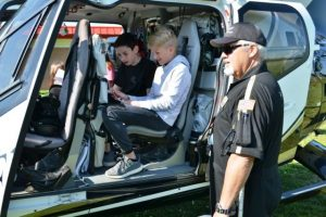 Students learn how Vandy Life Flight helicopter ambulance operates during DMS Career Day