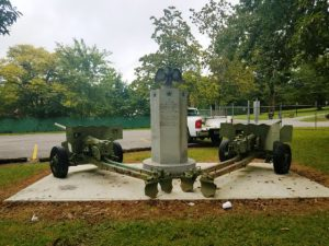 Veterans Memorial Monument and Cannons at Green Brook Park