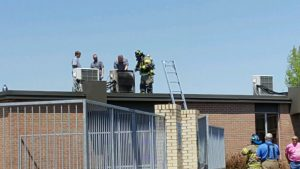DCHS Evacuated After Small Fire In AC unit (Jim Beshearse Photo)