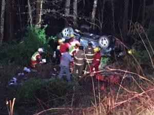 Courtney Nichols Crash Scene on Cookeville Highway March 24