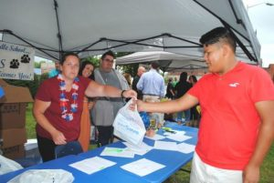 Free School Supplies at DeKalb Middle School Tent last year at First Day of School Education Celebration