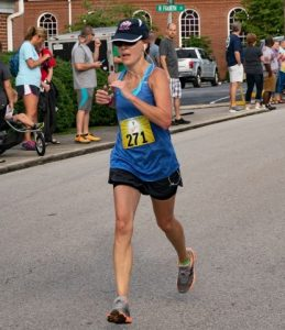 44 year old Tracy Watson of Shelbyville won the Fiddler 5K race among females. (Photo by Bill Luton Luton's Web ~ Photography ~ Design)