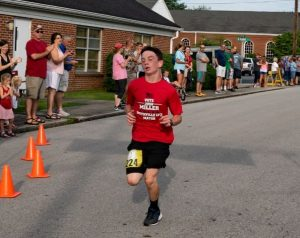 13 year old Matthew Sinclair of Carthage won the 20th annual Fiddler 5K and One Mile Fun Run Photo by Bill Luton Luton's Web ~ Photography ~ Design)