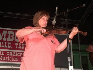 Senior Fiddlers ( Ages 40 & Over): First Place- Gail Johnson of Lavergne
