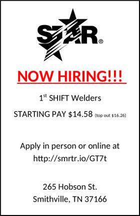 Star Manufacturing Now hiring