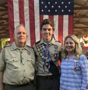 Thomas Webb with his parents Alan and Lora Webb