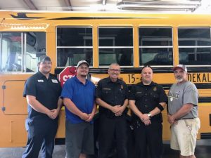 Mechanics Justin Coats and Michael Agee, State Trooper Inspectors Darryl Winningham and Craig Wilkerson, and Transportation Supervisor Jimmy Sprague