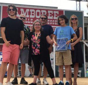 Uma Peters receives Award from Family of James G. (Bobo) Driver