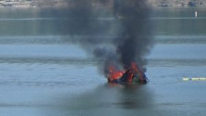 A Chestnut Mound man had a close call after his boat caught fire on Center Hill Lake at the Floating Mill Recreation Area.
