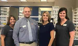 The Pharmacy at Family Medical Center Staff (L to R): Julia Golden - Pharmacy Technician, Collin Cantrell – Pharmacist, Susannah Daughtry – Pharmacist, Leslie Rich - Certified Pharmacy Technician