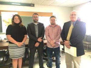 Smithville Alderman Gayla Hendrix, Mayor Josh Miller, Alderman Brandon Cox, and City Attorney Vester Parsley