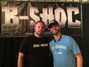 Smithville Church of God Minister Chris Moore and Christian Rap Artist B-Shoc