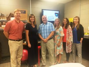 Members of the STEM Leadership Team: Cody Burton, DCHS Algebra teacher; Dr. Kathy Bryant, Supervisor of Instruction; Brad Leach, Career and Technical Education Director at DCHS, Jenny Norris, Assistant DCHS Principal, Lisa Craig, DCHS Library and Media Center Specialist, Amy Fricks, DCHS Algebra II and Applied Math Teacher.