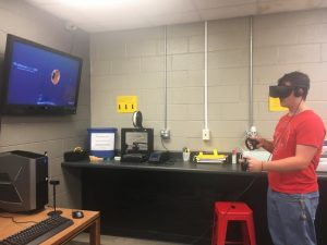 Virtual Reality immerses students in real world experiences. Ride a roller coaster, explore a museum, go deep-sea diving and more!