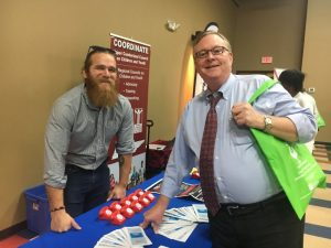 Judge Bratten Cook, II (right) with Nathan Payne of Lifeline of Tennessee at Health Fair Friday