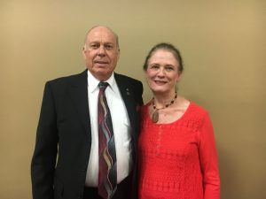 Dr. Robert R. Atnip and wife Guylene of Atnip Chiropractic Clinic at Health Fair Friday