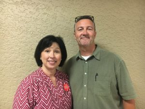 Tommy and Suzanne Angel provided training at Friday's health fair in the proper use of Narcan, a nasal spray that can reverse the effects of an opioid overdose and help save a life