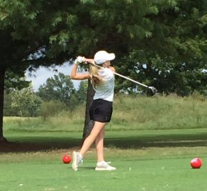DCHS Junior Anna Chew competes in State Golf Tournament