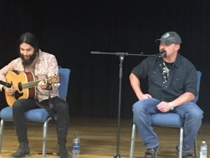Thomas Gabriel (right), the eldest grandson of the late Country Music star Johnny Cash entertained and spoke of his recovery during a Health Fair Friday hosted by the DeKalb Prevention Coalition and the DeKalb County Recovery Court in conjunction with National Recovery Month.