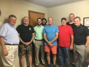 Members of WJLE's Fearless Forecasters: John Pryor, Jeff James, Grant James, Will Graham, Dewain Hendrixson, Ricky Atnip, Chad Kirby and special guest Ethan Hale