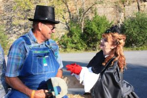 "Everyone's favorite ""black widow,"" Elizabeth Dale, playfully portrayed by Lori Christensen of Woodbury, will be looking for her seventh husband among the audience at the 13th Annual History Hayride at Edgar Evins State Park on Oct. 13th"