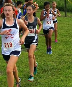 The DeKalb Middle School Cross Country Boys Team came in 1st at Cookeville High School and the girls finished 2nd. Katherine Knowles (#280) finished in 3rd place overall