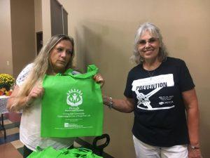 DeKalb Prevention Coordinator Lisa Cripps (right) with Sandra Grisham at Health Fair Friday