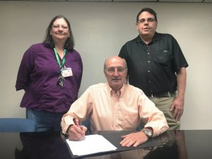 County Mayor Tim Stribling signed a proclamation designating September as Suicide Prevention Month in DeKalb County. Lena Higgins and Mark Allison of the Cookeville Upper Cumberland region of the Tennessee Suicide Prevention Network joined County Mayor Stribling for the signing