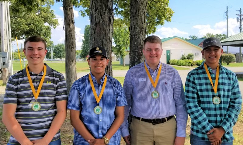4th Place The senior high poultry team of Cody Robinson, Jacob Williams, Caleb P. Taylor, and Caleb A. Taylor placed 4th in the region and 5th in the state.