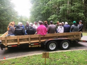 James Edgar Evins, portrayed by Randy Hedgepath, Tennessee State Naturalist, tells his story during 13th annual History Hayride at Edgar Evins State Park in 2018. This year's event is October 12th