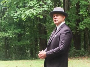 Randy Hedgepath, Tennessee State Naturalist, portrayed James Edgar Evins during the 13th annual History Hayride at Edgar Evins State Park in 2018. The 2019 event will be October 12