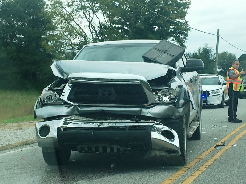 2011 Toyota Tundra driven by 22 year old Victor Roller rear-ends Chevy S-10 pickup on Highway 56 South Monday