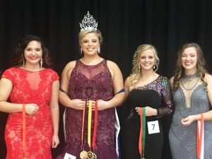 BPW Fall Fest: Madison Rae Rackley (3rd runner-up); Abigail Hope Taylor (Queen, Most Photogenic, and Prettiest Dress); Monica Mashay Carlton (2nd Runner-up and Prettiest Eyes); Alexis Grace Atnip (1st Runner-up and Prettiest Smile)